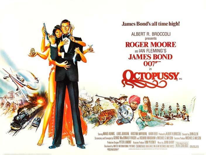 Постер «Осьминожка» (Octopussy), 1983 год