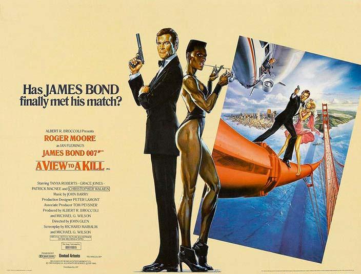 Постер «Вид на убийство» (A View To A Kill), 1985 год