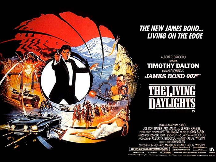 Постер «Искры из глаз» (The Living Daylights), 1987 год