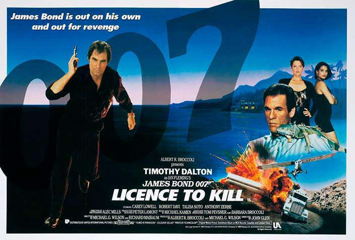 Постер «Лицензия на убийство» (License To Kill), 1989 год