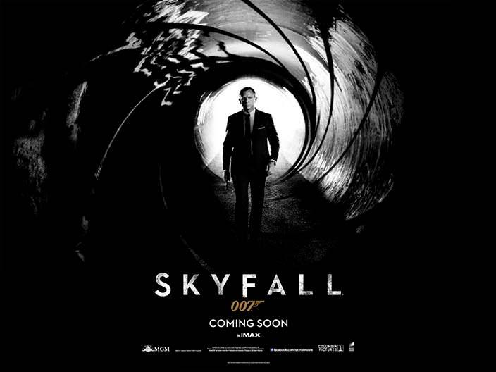 """Постер «007: Координаты """"Скайфолл""""» (Skyfall), 2012 год"""