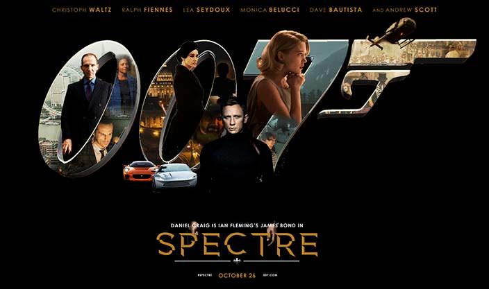 Постер «007: Спектр» (Spectre), 2015 год