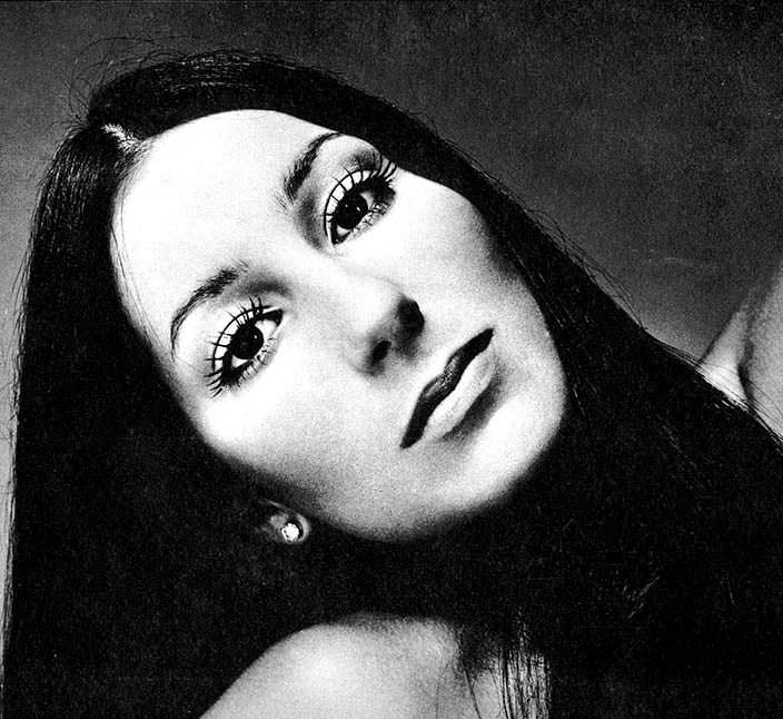 Фото Шер в 25 лет. 1971 год