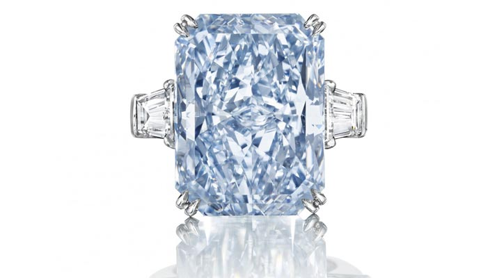 Голубой бриллиант Cullinan Dream продан на торгах Christie's