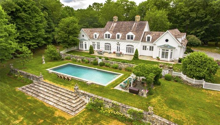 Загородное поместье Conyers Farm в Гринвиче, США