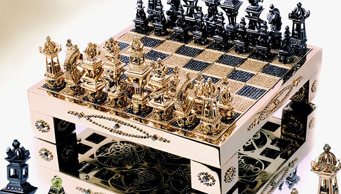 Золотые шахматы Royal Chess Set от House of Solid Gold