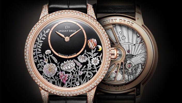 Ювелирные золотые женские часы Jaquet Droz Thousand Year Lights