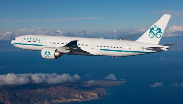 Роскошный самолет Boeing 777-200LR от Crystal Cruises