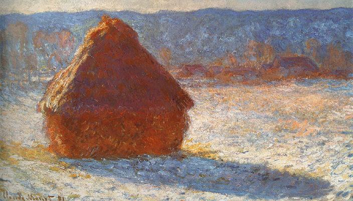 Картина «Стог сена» Клода Моне