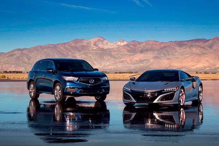 Acura MDX Sport Hybrid и Acura NSX