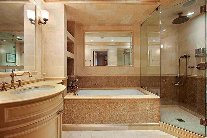 Красивый дизайн ванной комнаты в квартире