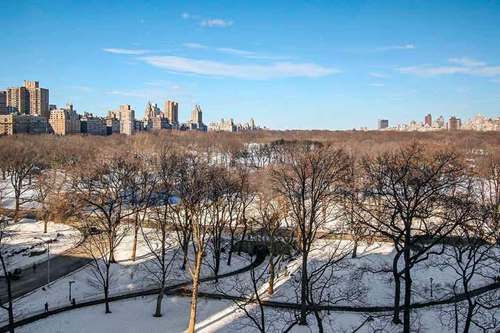 Вид на Центральный Парк из квартиры Дэвида Боуи