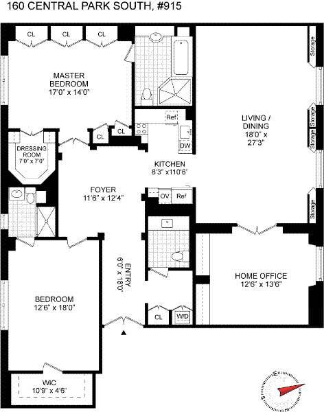 План квартиры в Нью-Йорке Дэвида Боуи