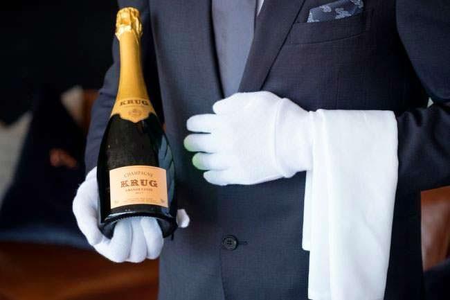 Шампанское Krug для гостей