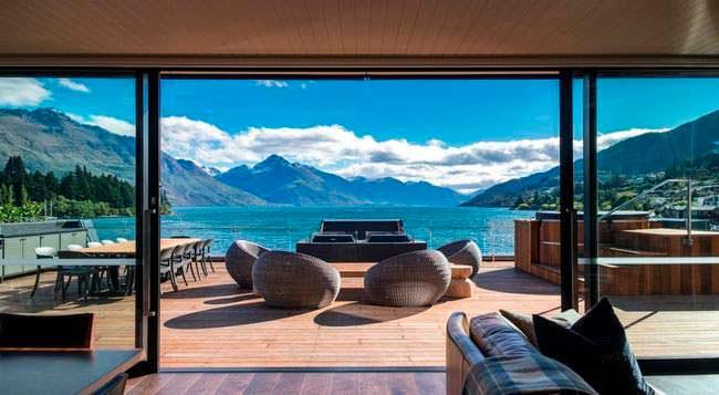 Панорамная терраса пентхауса в Новой Зеландии