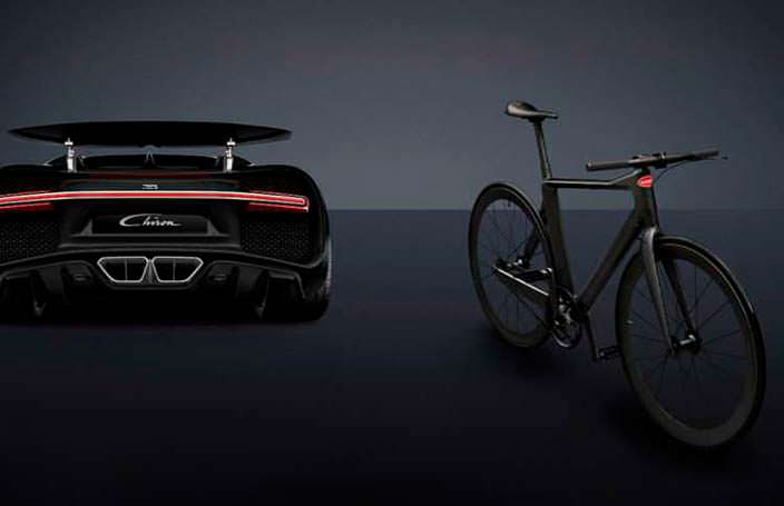 Велосипед PG Bugatti Bike и гиперкар Bugatti Chiron
