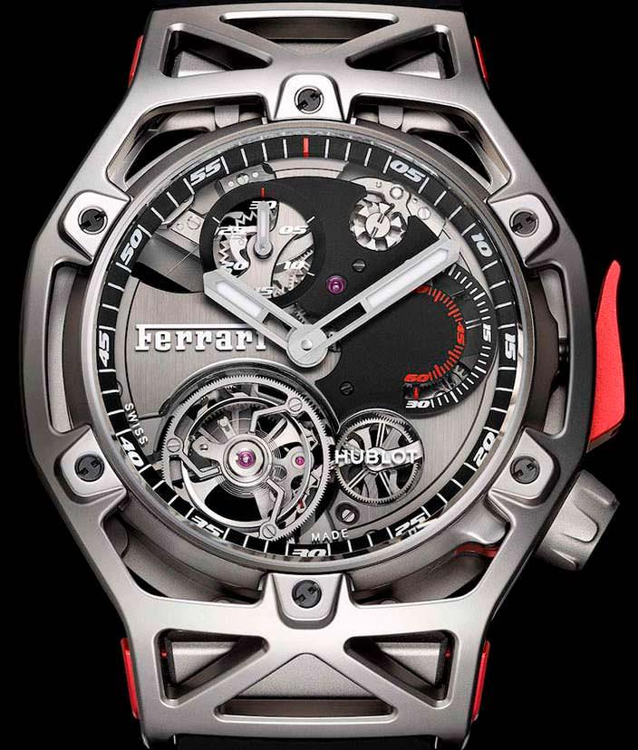 Часы Hublot Techframe Ferrari Tourbillon в честь 70-летия