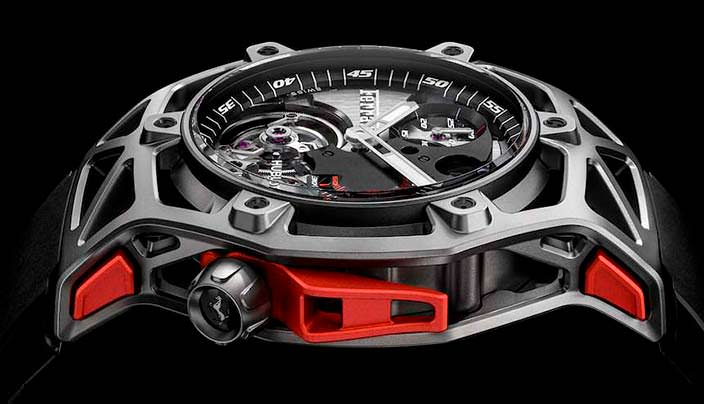 Хронограф Hublot Techframe Ferrari Tourbillon