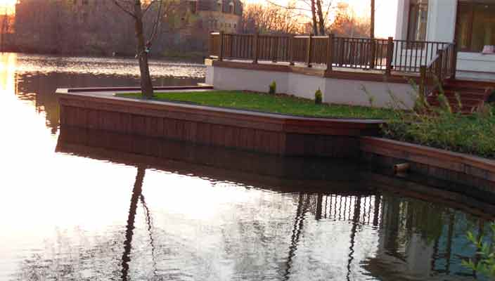АкваТехСтрой: укрепление берегов в Украине