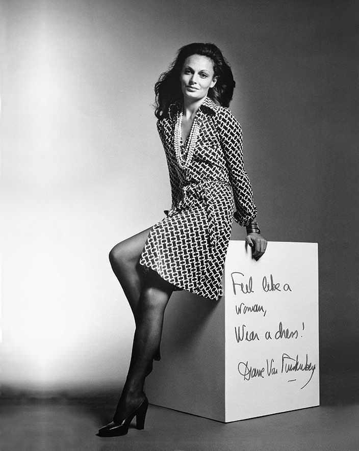 Фото   Диана фон Фюрстенберг в платье
