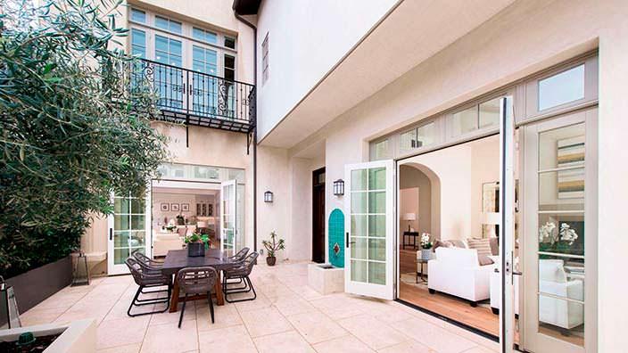 Фото | Внутренняя терраса дома Джейн Фонда