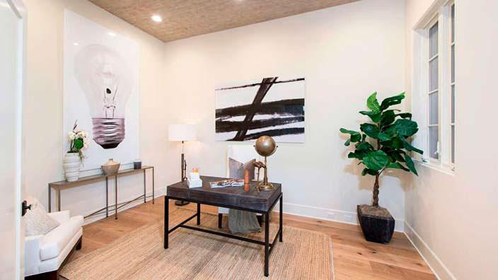 Фото | Интерьер кабинета в доме Джейн Фонда