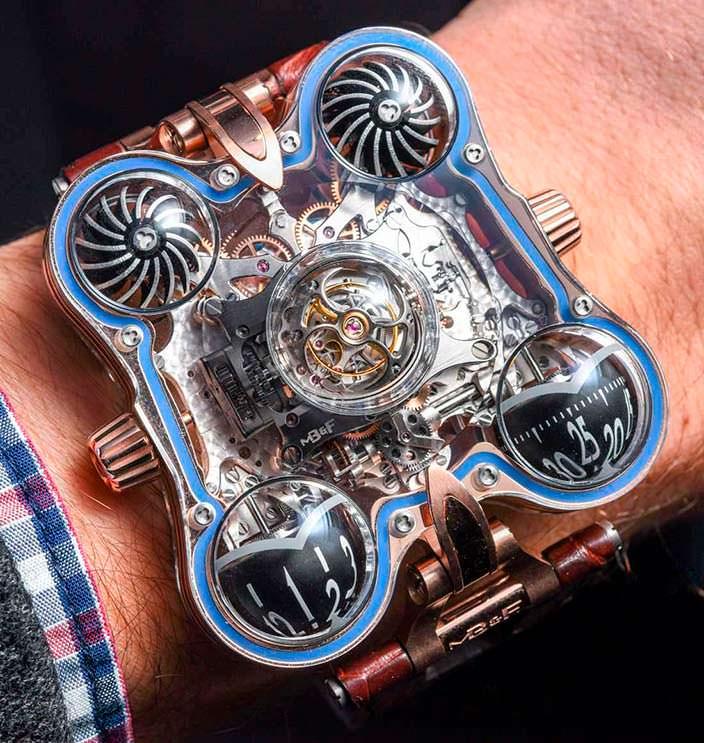 Фото   Сапфировые часы MB&F HM6 Sapphire Vision