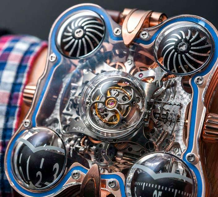 Фото   Уникальные швейцарские часы MB&F HM6