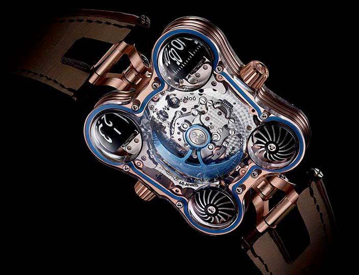 Фото   Уникальные часы MB&F HM6 Sapphire Vision, вид сзади