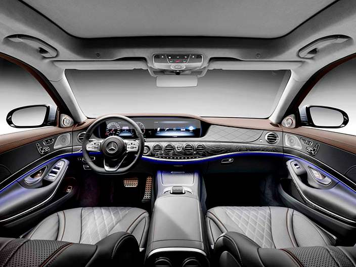 Фото салона Mercedes-Benz Мерседес S-Class 2018 года
