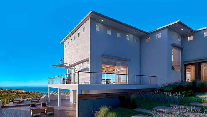 Фото   The New Castle: вилла с видом на океан в Малибу
