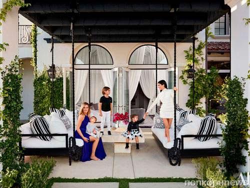 Фото   Дом сестер Хлои и Кортни Кардашьян