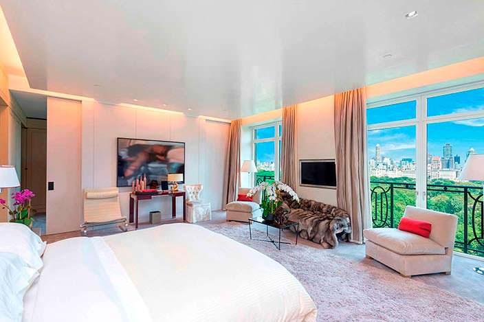 Спальня Стинга с панорамным видом на Центральный Парк