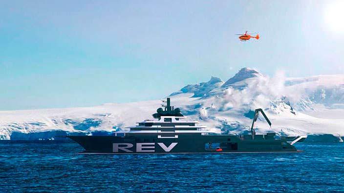 Самая большая яхта в мире REV от компании Espen Oeino