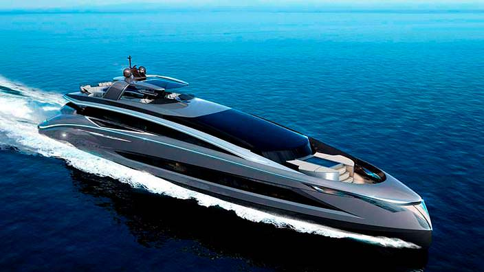 35-метровая яхта Tecnomar Evo 115 от Italian Sea Group