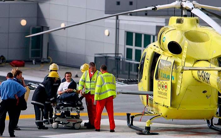 Ричарда Хаммонда доставляют в больницу вертолетом