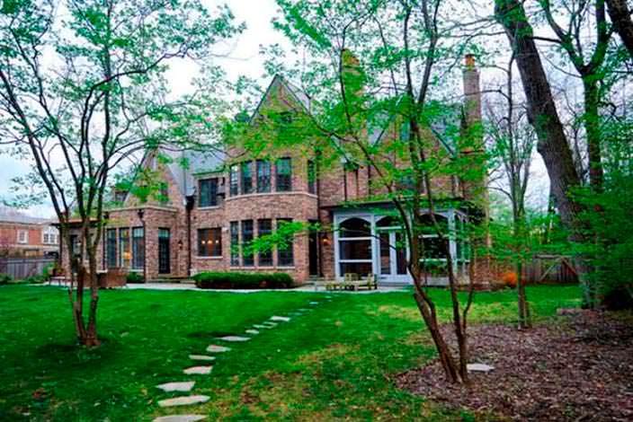 Сад у дома Кристин Каваллари в Чикаго