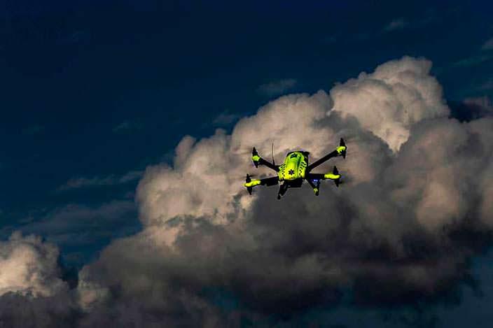 Flypulse: доставка дефибриллятора дроном