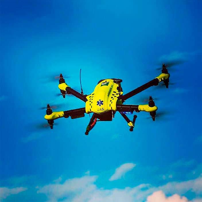 Дрон с дефибриллятором Flypulse: скорость до 70 км/ч