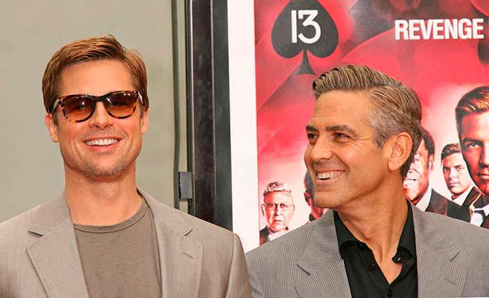 Брэд Питт и Джордж Клуни лучшие друзья с начала 2000-х