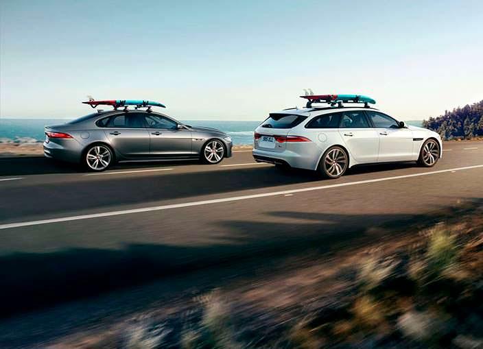 Универсал Jaguar XF Sportbrake и седан XF