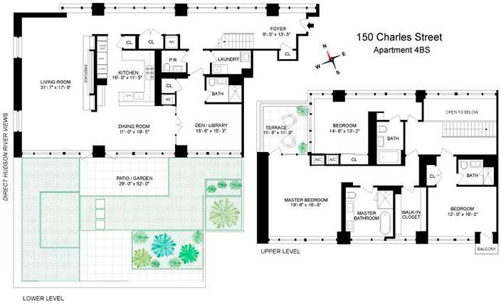 Планировка двухэтажной квартиры Джона Бон Джови