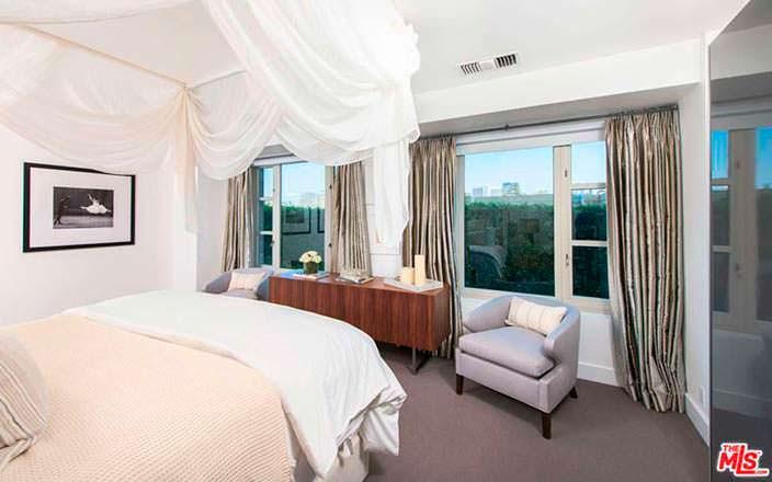 Дизайн спальни в квартире Кендалл Дженнер