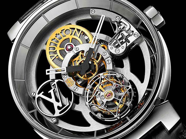 Новые часы скелетоны Louis Vuitton Tambour Moon
