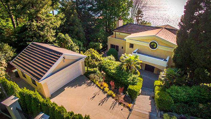 Вид на дом Райана Льюиса с высоты