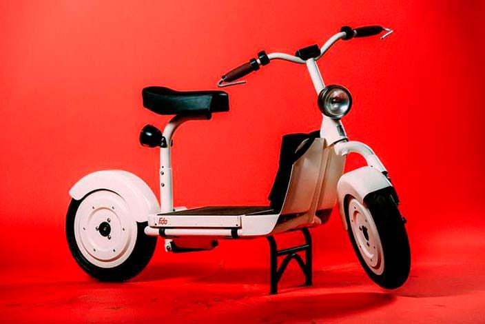 Классический электрический скутер Fido Motor