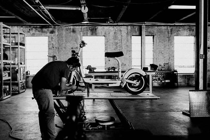 Электрический скутер Fido Motor из Чикаго