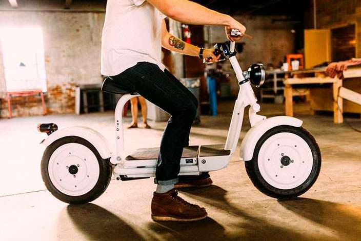 Электрический скутер Fido Motor: простой и лаконичный дизайн