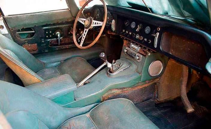 Фото салона Jaguar E-Type Roadster 1963 года