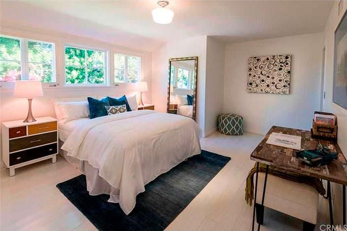 Уютный дизайн спальни в доме